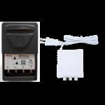 Mastovahvistin FM/VHF/UHF20-35dB 3 tuloa, LTE700 +verkkol. 24Vdc