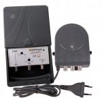 Mastovahv VHF 0-20dB+UHF 15-35dB + verkkol. 24V, LTE+GSM-suod.