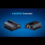 HDMI CAT6-linkki 50m 1080p 1xCAT6  2xvirtaläh HDMI LOOP