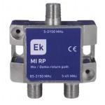 Data-TV diplekseri F-liittimillä EKOAX, 5-65MHz + 85-1000MHz