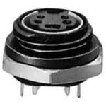 MiniDIN-runko 6-nap. paneeliin MJ-381/6