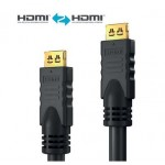 HDMI-välijohto 15m LSZH Secure-Lock-System AWG24