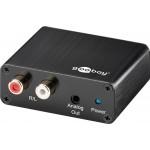 Digi>Ana audio muunnin TS/Coax > 2XRCA/3,5 Plugi