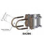 Kiinnitysrauta vaakaputkeen halkaisija 35-54 mm