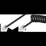 Puhelinjohto 6n kierre, musta RJ12