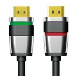 HDMI-välijohto 0,5m LSZH HighSpeed w/ Eth UltraLock