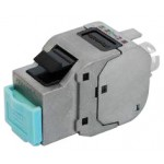 RJ45-runko CAT6a FTP/STP Keystone tool-less