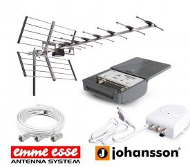 TV-antennipaketti UHF 11-16,5dBi 25-el KIT7329 vahvistin+kaapeli