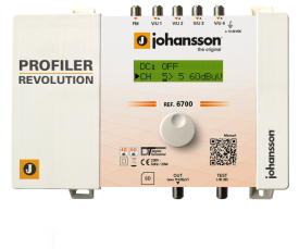 Päävahvistin Profiler Revolution tulot FM+4xVHF/UHF AGC