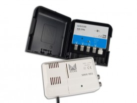 Mastovahvistin FM/UHF 20/32dB 2 tuloa +verkkol. 24V, LTE700