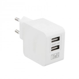 USB-verkkolaturi 2xUSB virta 3,1A