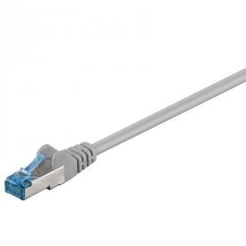 CAT6a-välijohto S/FTP 5,0m harmaa ClassEa 500MHz LSZH PIMF